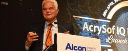 Dr Rick Wolfe speaks at the AcrySof IQ PanOptix Toric Launch Symposium in Malaysia